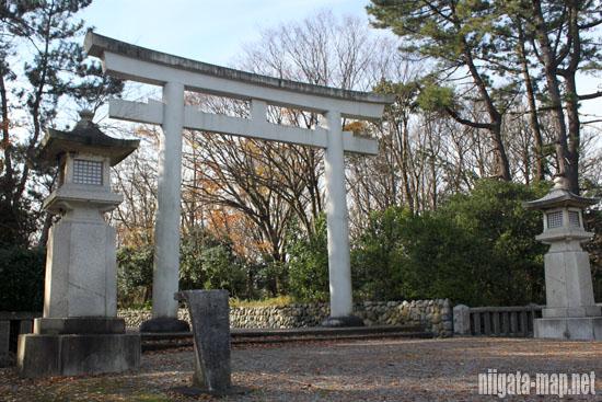 新潟県護國神社鳥居