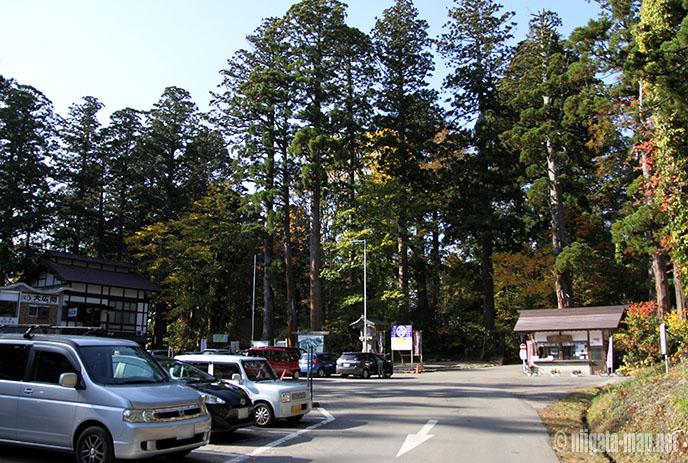 羽黒山の駐車場