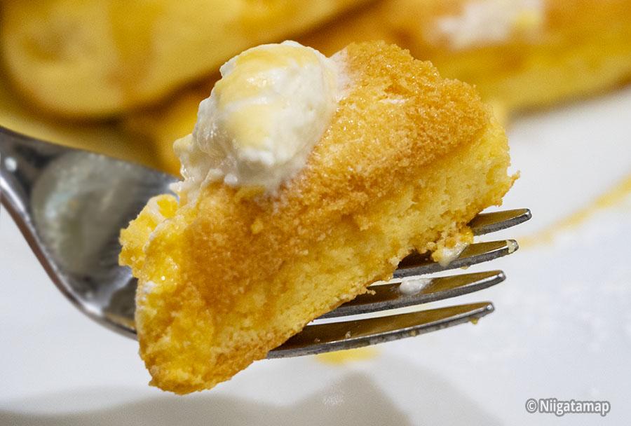 パンケーキ実食