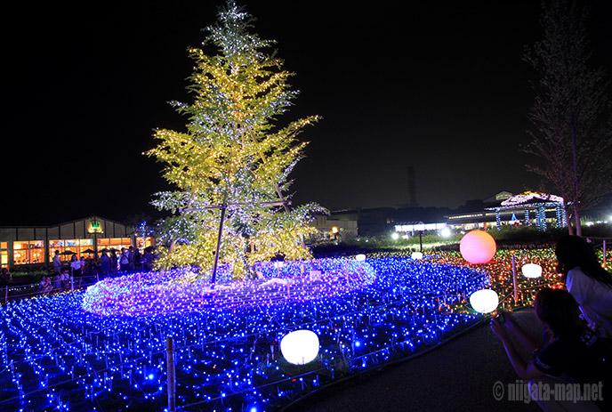 光と音のショー(青)