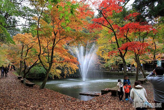 加茂山公園の噴水