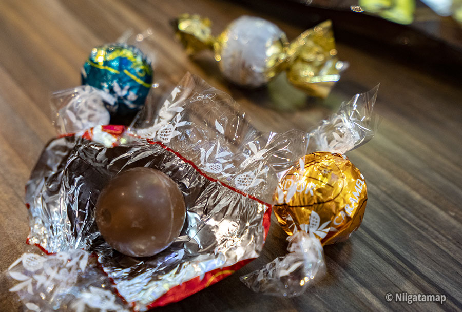 リンツ新潟店のチョコレート