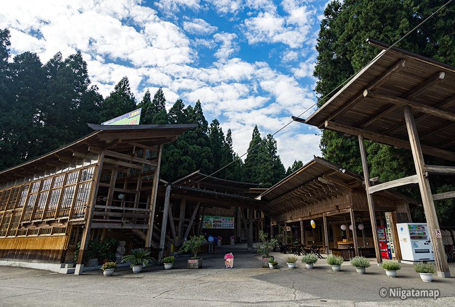 三川観光きのこ園入口