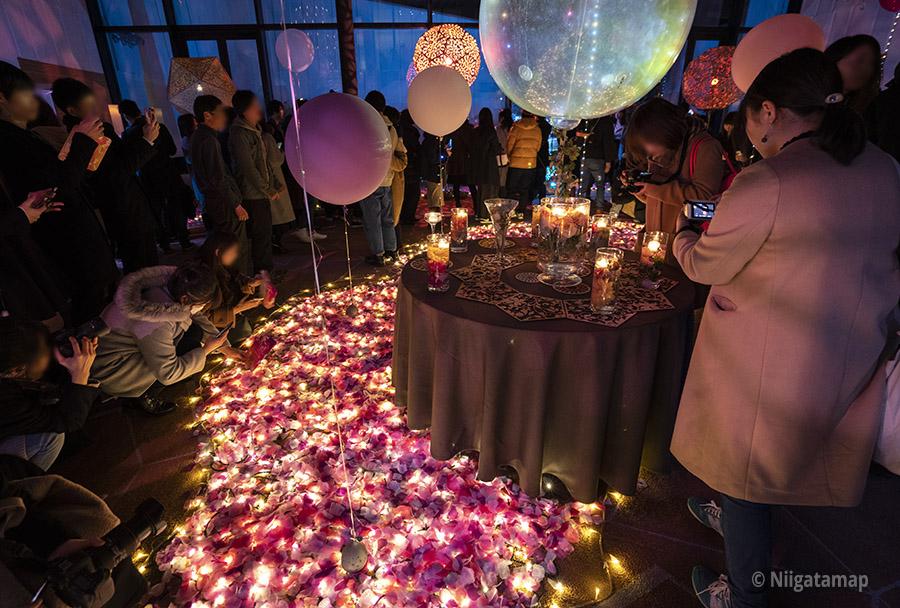 花と光がテーマのイベント