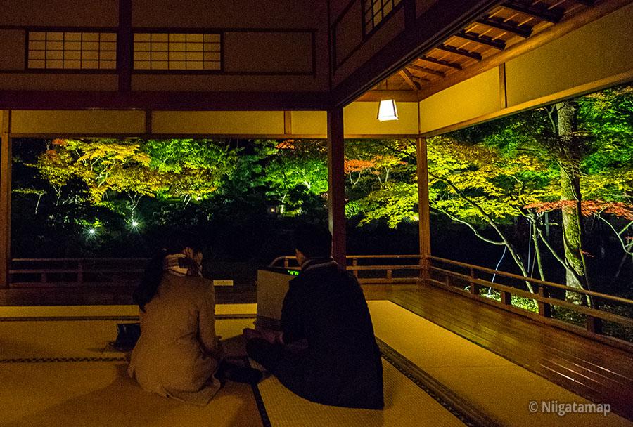 旧齋藤家夜間ライトアップ1階