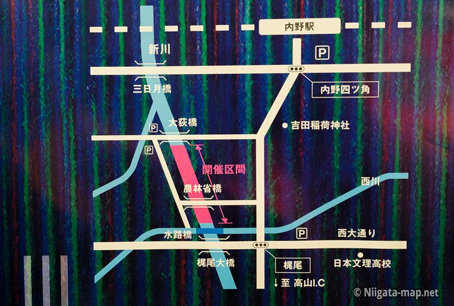 新川ほたる開催場所地図