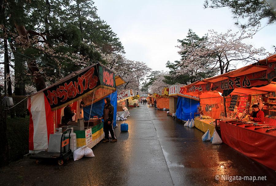 観桜会での屋台・出店