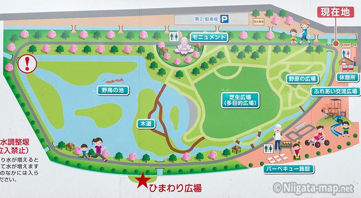 上堰潟公園マップ