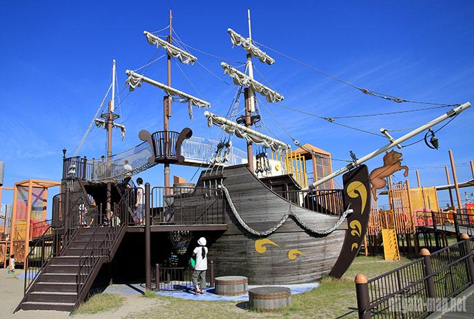 海賊船型遊具